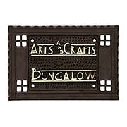 Arts and Crafts Bungalow House Plaque In Oil-Rubbed Bronze (item #R-06ME-ACHSPL)