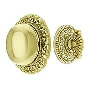 Small Scroll Design Twist Door Bell In Solid Brass (item #R-06SE-09016X)