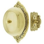 Transitional Victorian Mechanical Door Bell In Solid Brass (item #R-06SE-09019X)