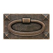 Stickley Style Arts & Crafts Horizontal Pull With Oval Ring (item #R-08BM-1015-AC)