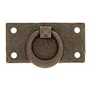 Arts & Crafts Horizontal Pull With Round Ring (item #R-08BM-1018-AC)