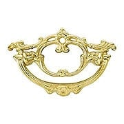 Late Victorian-Style Scroll Brass Bail Pull - 3