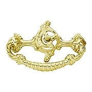 Rococo-Style Brass Bail Pull - 3