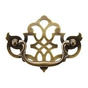 Chippendale Pierced Brass Bail Pull - 3