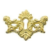 Decorative Solid Brass Keyhole Cover (item #R-08BM-1202-PB)