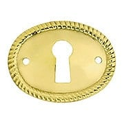 Horizontal Oval Keyhole Cover with Rope Design (item #R-08BM-1210X)