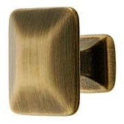 Pyramid Style Cabinet Knob in Antique-By-Hand - 1 1/4