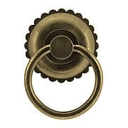 Eastlake Round Ring Pull In Antique-By-Hand (item #R-08BM-1277-ABH)