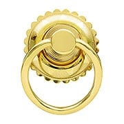 Eastlake Round Ring Pull In Brass or Nickel Finishes (item #R-08BM-1277X)