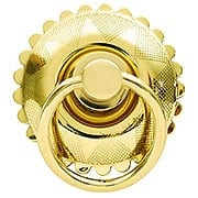 Large Eastlake Round Ring Pull In Brass or Nickel Finishes (item #R-08BM-1278X)