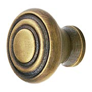 Bullseye Cabinet Knob in Antique-By-Hand - 1 3/16