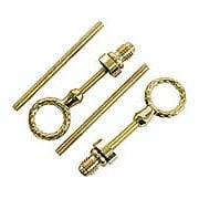 Solid Brass Cheval Mirror Mounting Hinges (item #R-08BM-1351-PB)