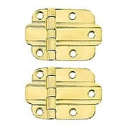 Pair of Solid Brass Art Deco Surface Cabinet Hinges With Choice of Finish (item #R-08BM-1580X)