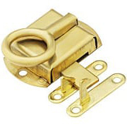 Solid Brass Hoosier Left-Hand Cabinet Latch (item #R-08BM-1604X)