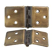 Pair of Wraparound Cabinet Hinges in Antique-By-Hand - 1 1/2