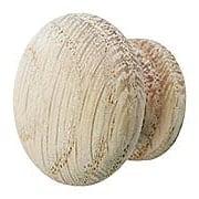 Solid Oak Round Cabinet Knob (item #R-08BM-4252X)