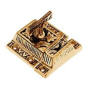 Solid Bronze Oriental Pattern Turn Latch With Highlighted Antique Finish (item #R-08CH-390514)