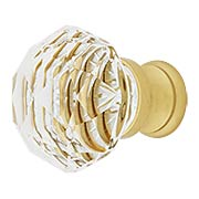Diamond Cut Crystal Cabinet Knob With Brass Base (item #R-08EM-86012X)