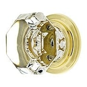Old Town Crystal Wardrobe Knob With Solid Brass Rosette (item #R-08EM-86028X)