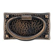 Arts & Crafts Horizontal Hammered Ring Pull In Oil-Rubbed Bronze (item #R-08EM-86041)