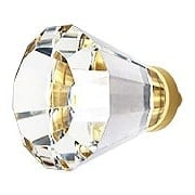 Over-Sized Brookmont Crystal Cabinet Knob With Solid Brass Base (item #R-08EM-86398X)