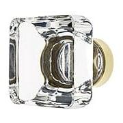 Medium Square Crystal Cabinet  Knob With Solid Brass Base (item #R-08EM-86403X)