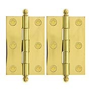 Pair of Solid Brass Cabinet Hinges - 3