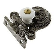 Cast Iron Lift Style Surface Latch With White Porcelain Knob (item #R-08RP-339Y-NIWP)