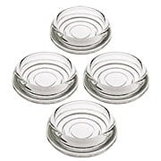 Set of 4 Glass Furniture Caster Cups - 3
