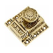 Solid Brass Windsor Pattern Cabinet Latch With Round Knob (item #R-08SE-0600012X)
