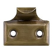 Stamped Brass Hook Style Sash Lift In Antique-by-Hand (item #R-09BM-1573-ABH)