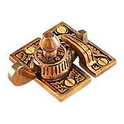 Oriental Pattern Sash Lock In Solid Bronze (item #R-09CH-390507)