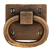 Solid Bronze Ring Pull With Weathered Antique Finish (item #R-09DC-02023463)