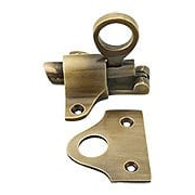 Solid Brass Barrel Style Transom Window Latch In Antique By Hand (item #R-09HU-ULFLC-02-ABH)
