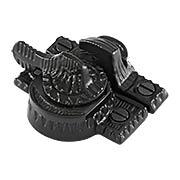 Cast Iron Eastlake Style Sash Lock in Matte Black (item #R-09SE-135-BP)