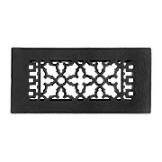 Victorian Style Cast Iron Floor Register With Adjustable Louver (item #RS-010AH-GL1BGX)