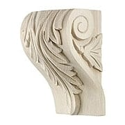 Leaf Pattern Corbel in 4 Sizes with Choice of Wood (item #RS-010AP-HC100X)