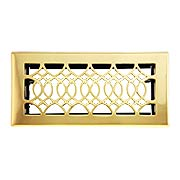 Strathmore Solid Brass Floor Register With Adjustable Louver (item #RS-010HC-SVF-410X)
