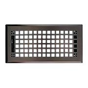 Mission Style Floor Register With Adjustable Louver (item #RS-010WR-RKLFRX)