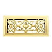 Classical Style Solid Brass Floor Register With Adjustable Louver (item #RS-010Z-20265X)