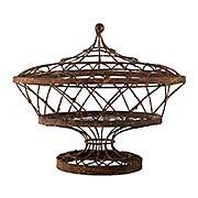 Large Oval Basket with Lid (item #RS-011AG-7835GR)
