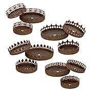 Candle Drip Plate Set (item #RS-011AG-C5-SET)