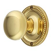 Large Beaded Rosette Door Set with Wrought Brass Knobs (item #RS-01BM-8746-8875X)