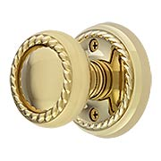 Classic Rope Rosette Set With Matching Rope Door Knobs (item #RS-01EM-8101RKX)