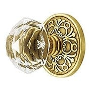 Lancaster Door Set With Diamond Crystal Glass Knobs (item #RS-01EM-8106CKX)