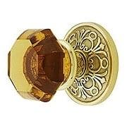 Lancaster Door Set With Amber Crystal Glass Knobs (item #RS-01EM-8106OTAX)