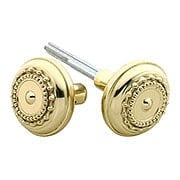 Pair of Meadows Door Knobs In Solid Brass (item #RS-01NW-701007X)