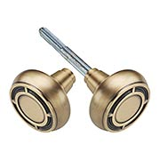Pair of Mission Door Knobs in Solid Brass (item #RS-01NW-712690X)
