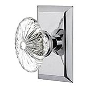 New York Rosette Door Set with Oval Fluted-Crystal Glass Knobs (item #RS-01NW-713253X)