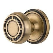Classic Rosette Door Set with Mission Knobs (item #RS-01NW-716602X)